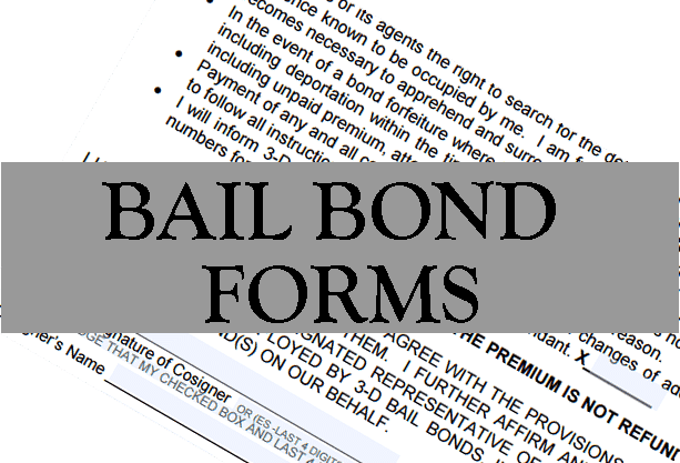 Online Bail Bonds Form - Online Paperwork for 3-D Bail Bonds Inc